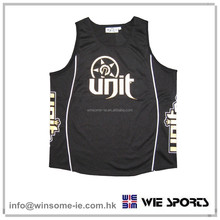 High Quality classic on field OEM mens 100% polyester moisture wicking functional basketball top