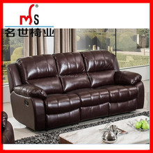 Comfortable leather home theater recliner sofa with cup holder chiras regal sofa
