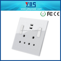 2 x 3 AC Outlet Socket Wall Mount Surge Protector with Dual USB Charging Port Wall Charger 2.1A socket