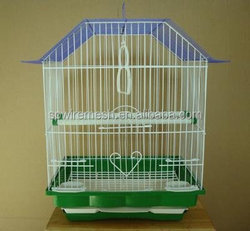 hot sale chinese bird cage bird cage parrot cage dark red frame white cage body metal bird cage parrot cage of anping
