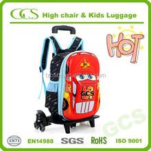 Trendy 2015 Lastest Detachable 2 Wheels Students Book Bag School Bag Trolley