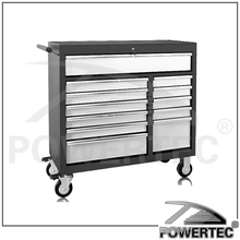 POWERTEC Top Chest Rolling Iron tool box roller cabinet,stainless steel tool cabinet