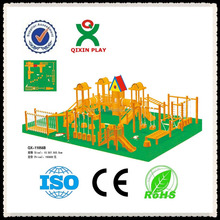 Wood Playground Equipment sell/outdoor playing equipment/outdoor wooden playsets/QX-11056B