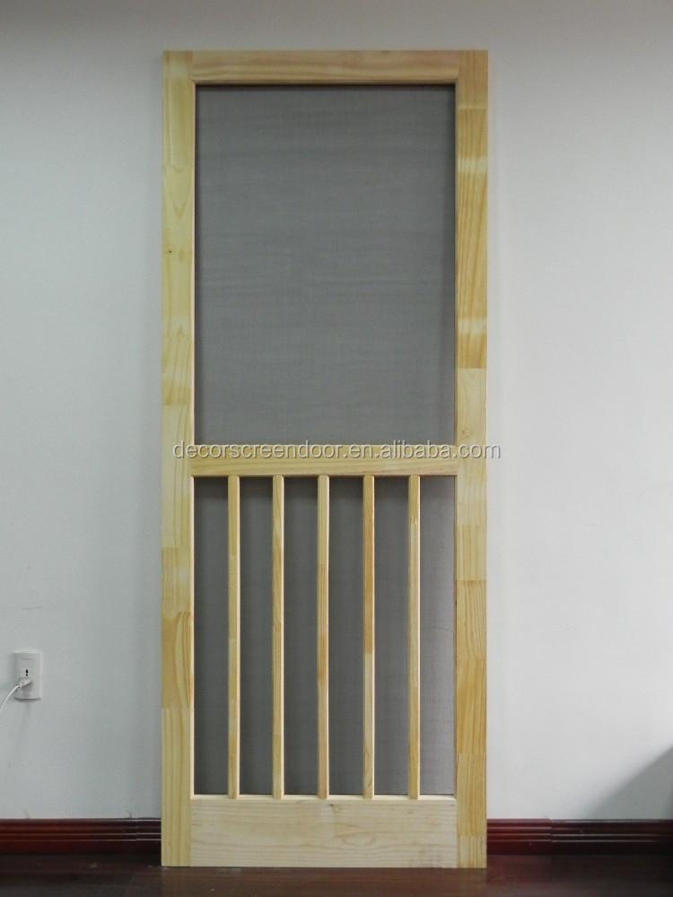 Solid pine wood 5 bar screen door buy solid pine wood 5 for Buy screen door