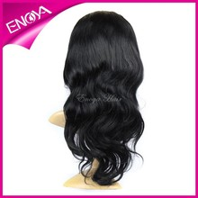 Wholesale Cheap High Quality Brazilian Human Hair 18inches Body Wave Jet Black Full Lace Wig With Baby Hair