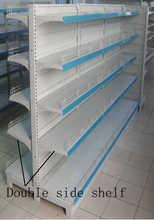 customized supermarket shelf , supermarket shelf rack , Double/single side Perforated Gondola Supermarket Shelf