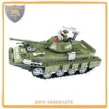 La construcción de juguetes de ladrillo serie militar tanque