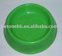 green PP Cat novelty pet bowls/cheap dog bowls
