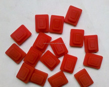 red silicone rubber cap button