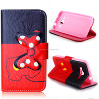 For Samsung Galaxy Core Prime G360 Bowknot Series Leather Flip Cover for Samsung G360 mobile phone case