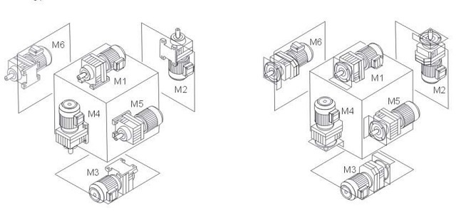 R series horizontal inline helical geared motor