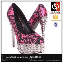 Sexy 6.25 Inch high heel pump purple , black , navy blue Fabric platform dress shoes 2015