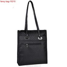 Black Polyester Long Handle Mens Travel Shoulder Bag