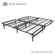 Foldable Bed Base - Platform Bed Frame and Box Spring in One - No Assembly Required - Queen
