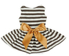 2015 hot stripe dog dress for dog clothes dress whloesale dog clothes