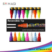 Crazy Sale - Liquid Chalk Markers - 10 Pack - 6mm Reversible Tip - Great for Chalkboard, Window, Glass, Whiteboards, Bistro, Lab