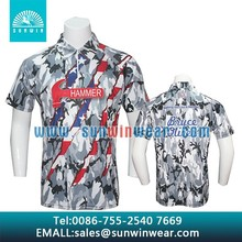 New custom made quick dry custom dye sublimated fishing polo shirt