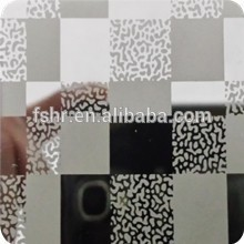 China best seller PVD color mirror etching finish stainless steel sheet