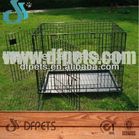 Metal Foldable Pet Dog Cage With Plastic Tray DFW-005