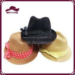New products 2015 paper straw hat for ladies straw fedora hat
