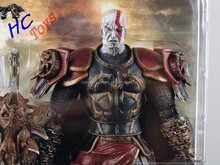 "High Quality NECA God of War 2 II Kratos in Ares Armor W Blades 7"" PVC Action Figure Toy Doll Chritmas Gift"
