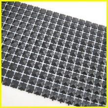 Decorative Sew on Plastic Rhinestone Mesh Black Color garment Accessories