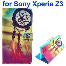 Multi styles 3D Color Printing Craft flip leather case for Sony Xperia Z3
