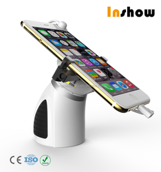High quality anti theft alarm cell phone security holder with mouse sensor retail security cable