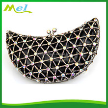metal gold wedding clutch felt tote bag with stones