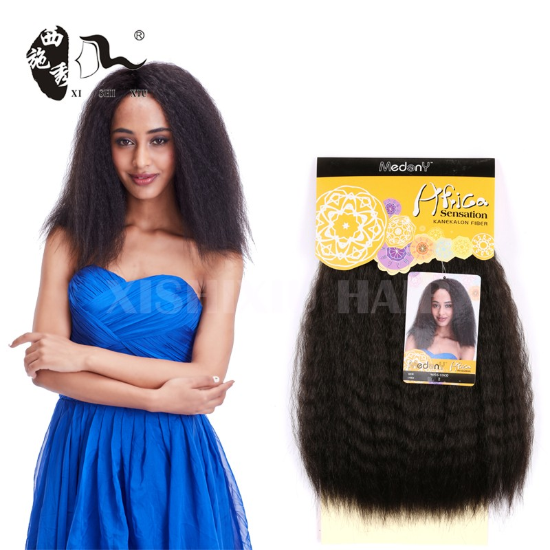 Miss Coco Hair Weave Natural Kinky Yaki Straight Synthetic Hair