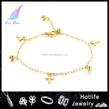 wholesale jewelry eco-friendly stainless steel jewelry new design anklet with charms