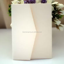 Contemporary low price pocket fold wedding invitation