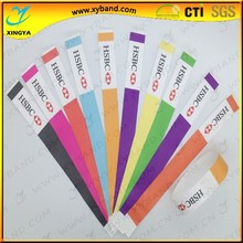 one time use waterproof tyvek wristband,vinyl wristband,paper wristband