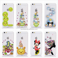 """2015 New Arrive 8 style For Apple Iphone 6 4.7"""" Case Transparent Cartoon Duck Mickey Minnie Snow White Cell Phone Cases Covers"""