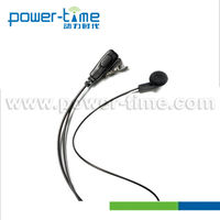 Fm auto scan radio with earphone with in ear receiver with PTT.