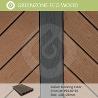 Easy installation High quality outdoor floor wood plastic composite decking boards