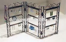 Pantalla plegable de metal exhibición de la joyería estante