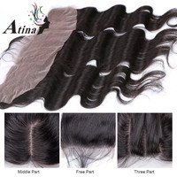 """Top Quality Unprocessed Brazilian Lace Frontal Closure 13x4 Body Wave 8""""-20"""" In Stock Ear To Ear Full Lace Frontal Hair Pieces"""
