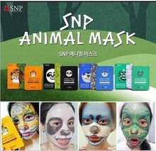 SNP Animal FACE Mask (tiger / panda / seal / dragon) 10 pcs /box