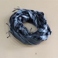 Black White Plaid Scarf and Yarn Patterns House of Fashion Shawl