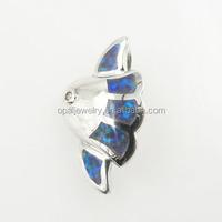 925 Sterling Silver Opal Custom Made Pendants Hawaii Sea Life Fish Jewelry