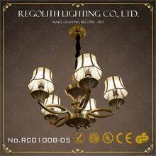 2015 Traditional modern black glass chandelier with UL CE RoHS
