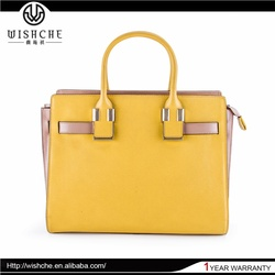 Wishche Top Sale Samples Are Available Personalized Design Leather Fashion Hand Bag Wholesale Manufacturer W023