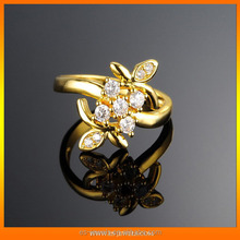 Fine Rose Gold Plated Fashion Crystal Finger Rings Jewelry for ladies
