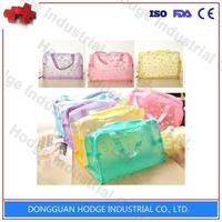 Fashion elegant pvc cosmetic bag for lady plastic cosmetic bag