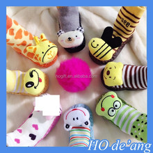 HOGIFT Animal Head socks / cartoon floor socks / knitted thick rubber sole baby sock shoes