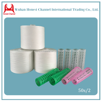 plastic cone 100% polyester sewing thread
