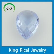 Colored Glass Stones,Crystal Fancy Stone Pear Cut Light Aquamarine Glass Stones Jewelry