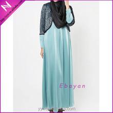 zipper front satin elegant muslimah jubah