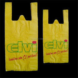 CHEAP China Manufacture white custom printed plastic t shirt SHOPPING bag for sale
